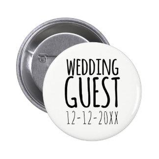 Botón moderno del Pin de la huésped del boda con
