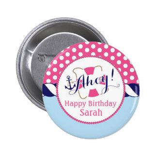 Botón náutico del cumpleaños