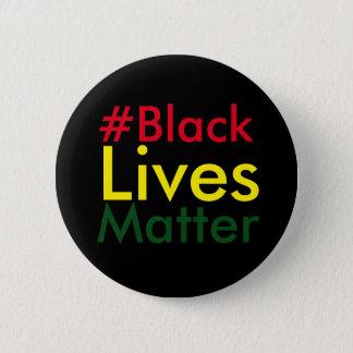 Botón negro de Hashtag Rasta de la materia de las