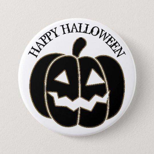 Botón negro de la calabaza del feliz Halloween