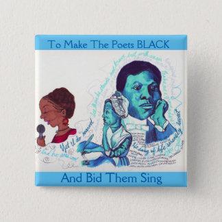 Botón negro de la historia de los poetas negros