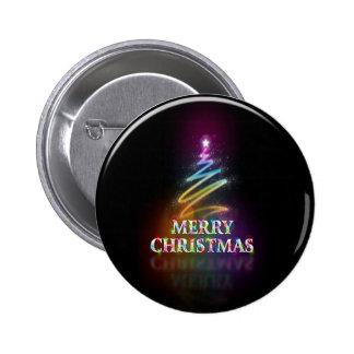 botón negro del árbol de navidad