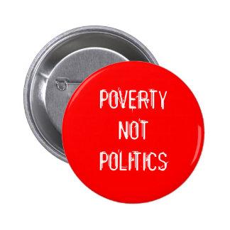 Botón no de la política de la pobreza pin