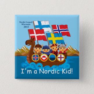 Botón nórdico 2017 del niño