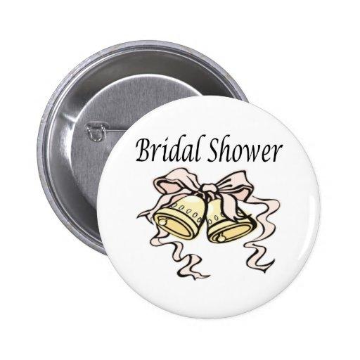 Botón nupcial de la ducha pins