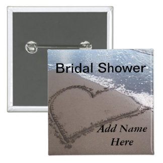 Botón nupcial del boda de la ducha pins
