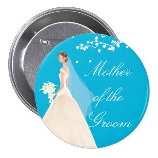 Botón nupcial del fiesta de la novia MOG de la tur