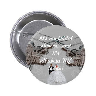 Botón nupcial del personalizado de la ducha pin