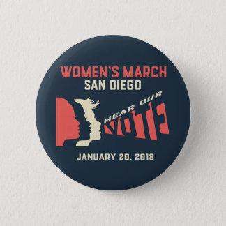 Botón oficial SZ regular de marzo San Diego de las