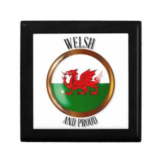 Botón orgulloso de la bandera Galés Joyero