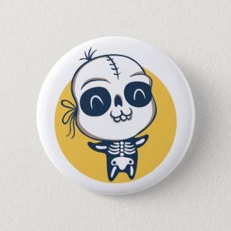 Botón para Halloween con el esqueleto