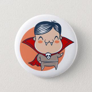 Botón para Halloween con el vampiro. Drácula