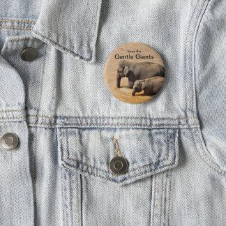 Botón para los amantes del elefante