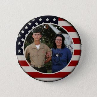 Botón patriótico de la foto de la bandera