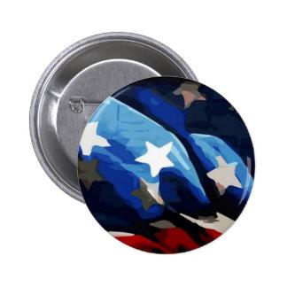 Botón patriótico del Pin de la bandera americana