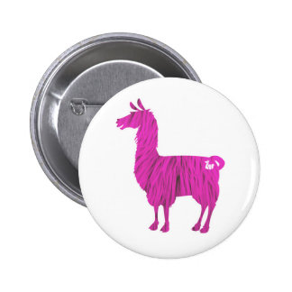 Botón peludo rosado de la llama