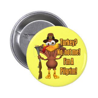 Botón - peregrino de Turquía de la acción de graci