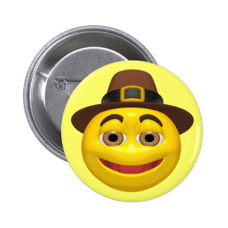 Botón - peregrino feliz de la acción de gracias