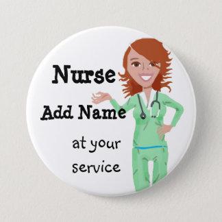 Botón personalizado de la enfermera