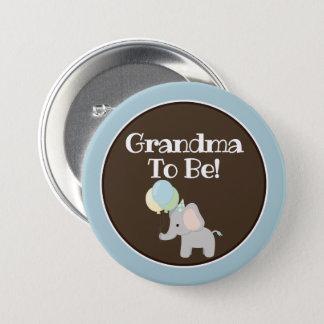 Botón personalizado, elefante de la fiesta de