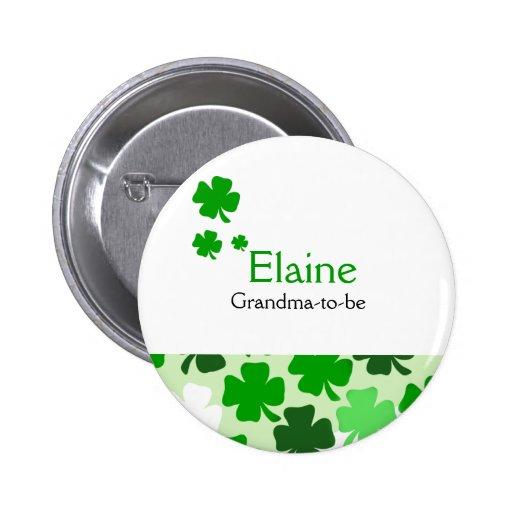 Botón personalizado ETIQUETA CONOCIDA irlandesa de Pin