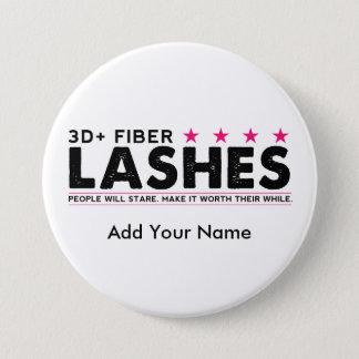 botón personalizado latigazos de la fibra 3d