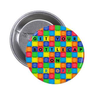 Botón/Pin con el diseño de Bottlecap de la diversi Chapa Redonda De 5 Cm