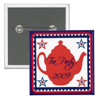 Botón político de la fiesta del té 2009 pins