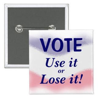 Botón político del voto patriótico
