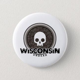 Botón punky lindo de Wisconsin del cráneo