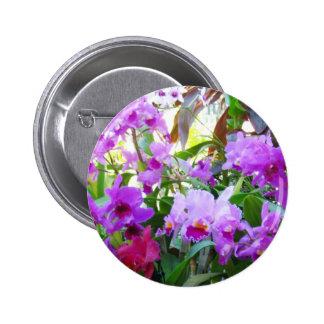 Botón púrpura del Pin de la flor de los lirios