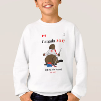 Botón que se encrespa de Canadá 150 en 2017 Sudadera