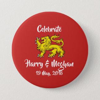 Botón real del recuerdo del boda del león de la
