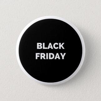 Botón redondeado viernes negro: Negro