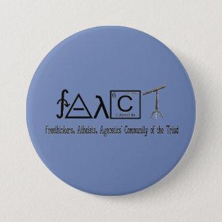 """Botón redondo 3"""" del grupo ateo de FAACT"""