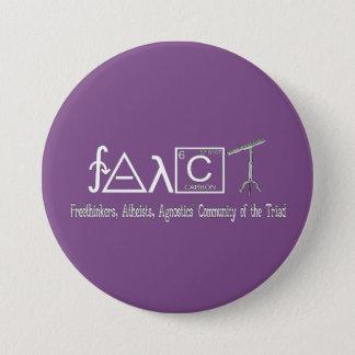 """Botón redondo 3"""" del grupo ateo de FAACT oscuridad"""