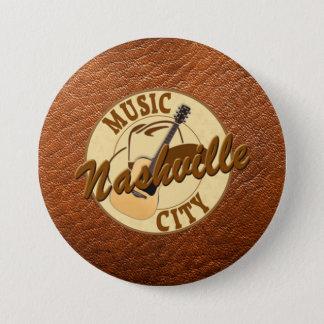 Botón redondo de la ciudad de la música de