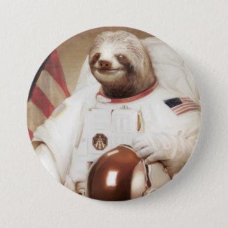 Botón redondo de la pereza del astronauta