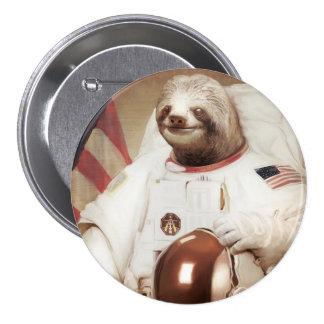 Botón redondo de la pereza del astronauta pin
