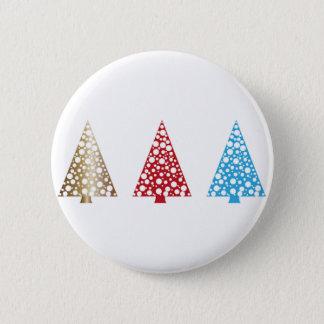 Botón redondo del árbol de navidad