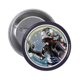 Botón redondo del astronauta retro