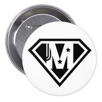 Botón redondo del día de madre del Supermom