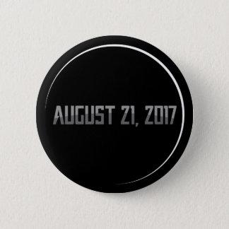 Botón redondo del eclipse solar 2017 totales
