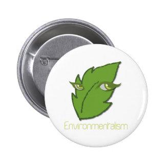 Botón redondo del Environmentalism Pin