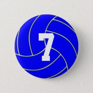 Botón redondo del JERSEY del voleibol azul DE