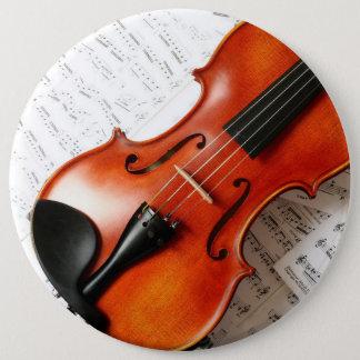 Botón redondo - violín del instrumento de música