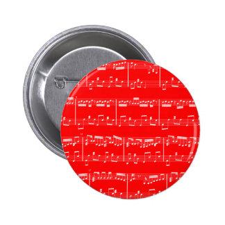 Botón rojo de la partitura pins