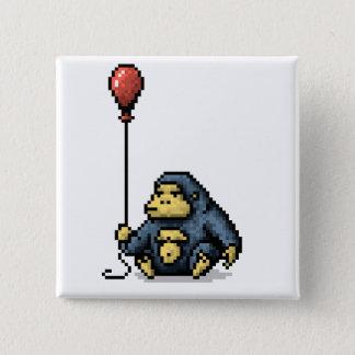 Botón rojo del arte del pixel de la sombra del