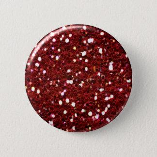 Botón rojo del purpurina