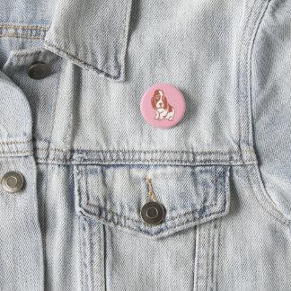 Botón rosado de Basset Hound